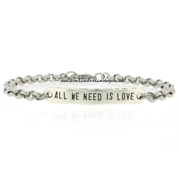 quote armbandjes All We Need is Love