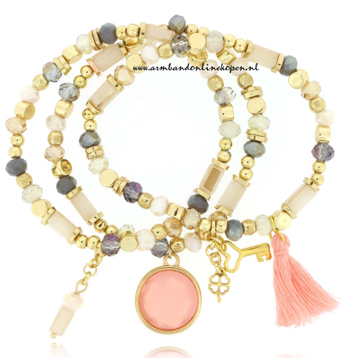 Armbandjes Set Blush Midnight Kiss
