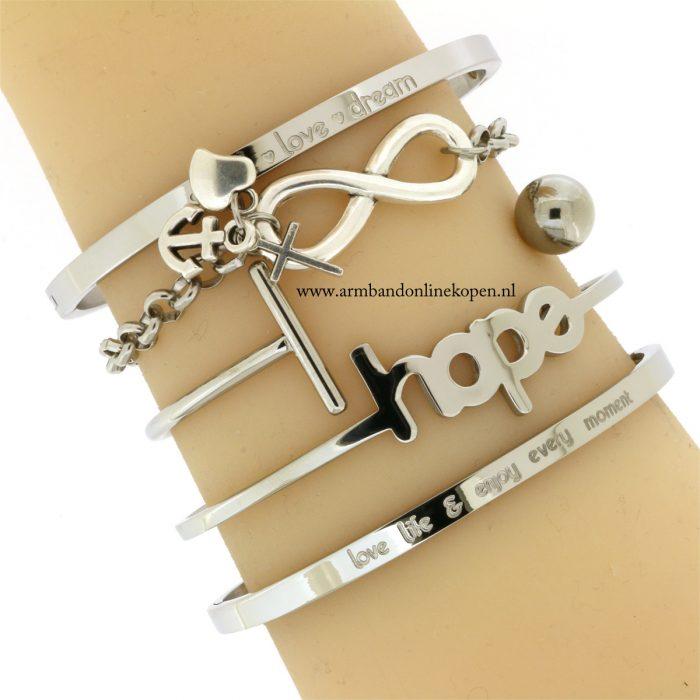 infinity armband geloof hoop en liefde