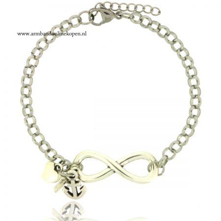 infinity armband zilver geloof hoop en liefde