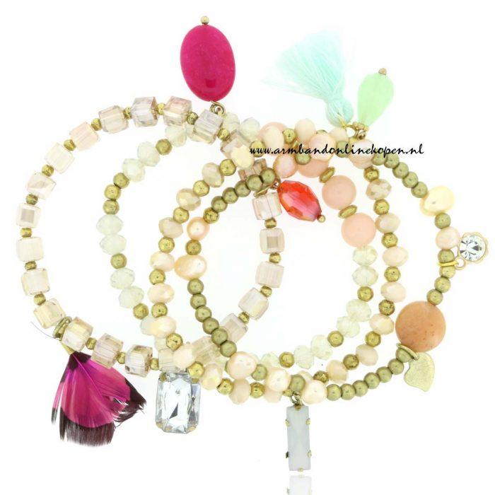 Armbandjes Set Pearls of Heaven