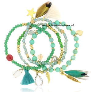 Armbandjes Set Sophisticated Emerald