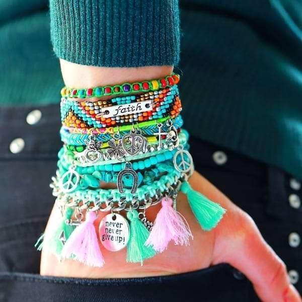 Boho Ibiza Armband Keep the Faith Betekenis
