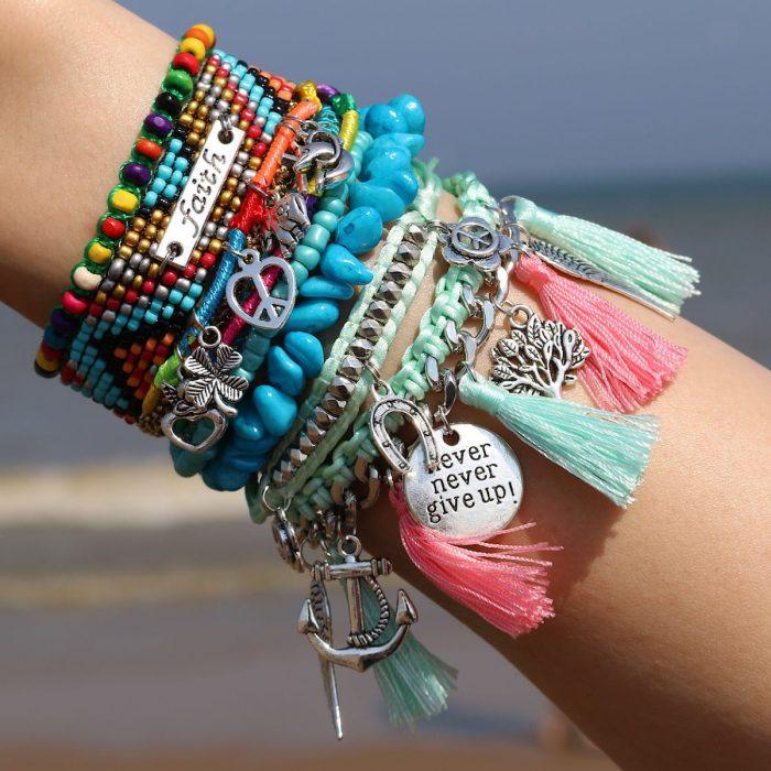 Hippe Ibiza Armbanden Keep the Faith