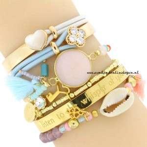 armbanden setjes beige tinten