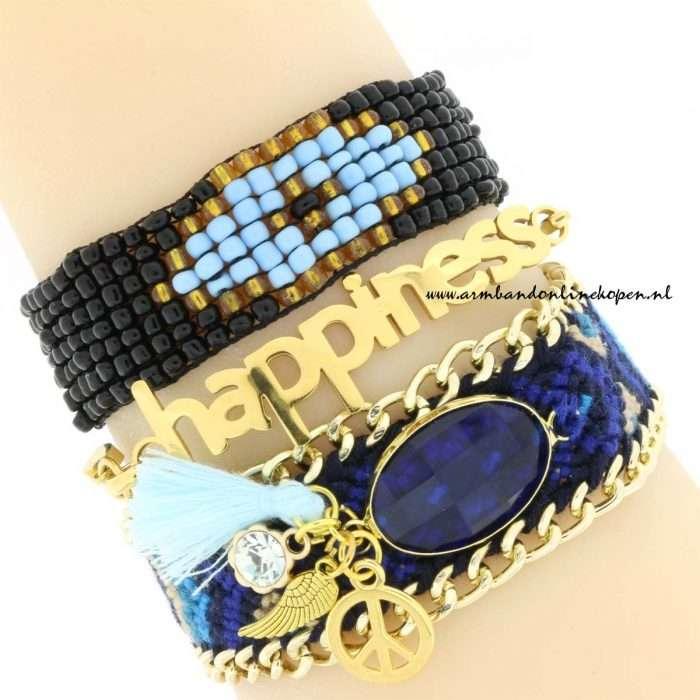 boho armbandjes armcandy blauw