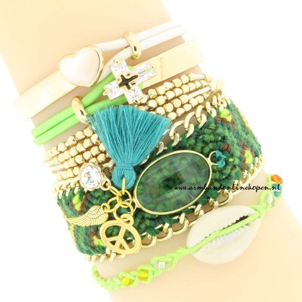 boho zomer armbandjes bohemian rhapsody groen