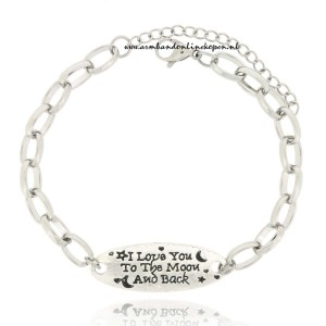 hippe armband I Love you to the moon and back