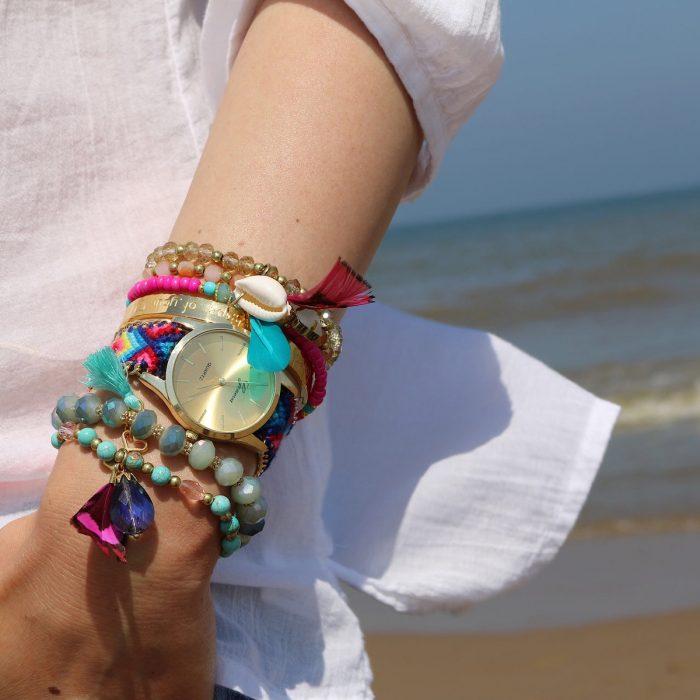 ibiza armbandjes veer schelpjes