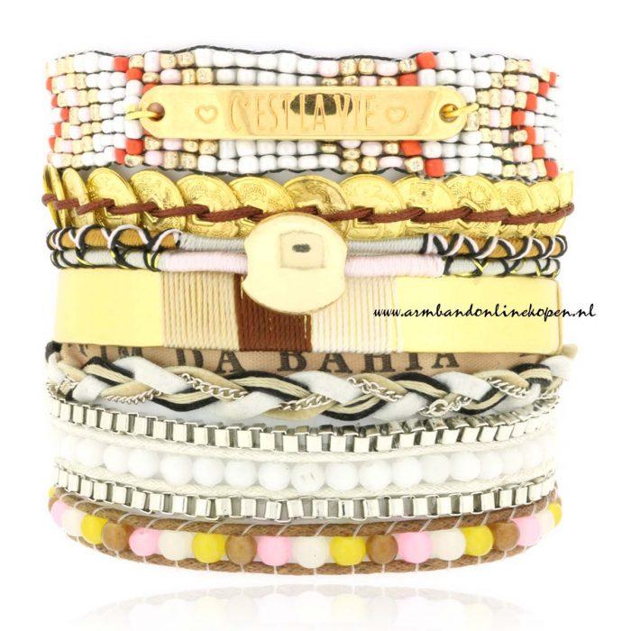 Ibiza Armband C est la Vie creme tinten