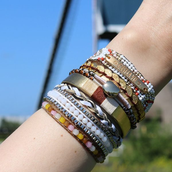Ibiza Armbanden beige tinten