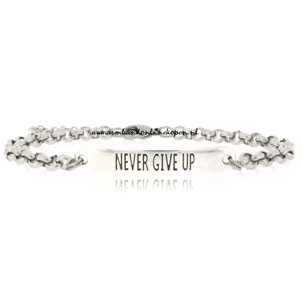 Schakelarmbandje Never Give Up