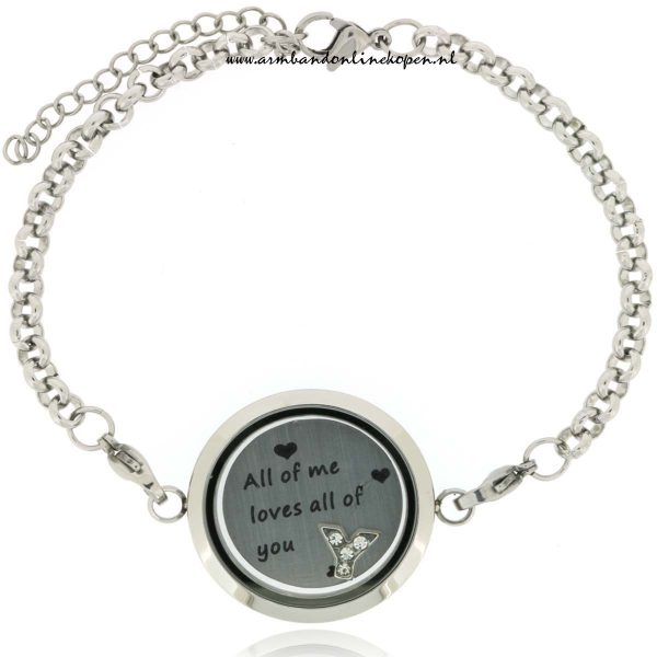 armband met munt all of me love all of you