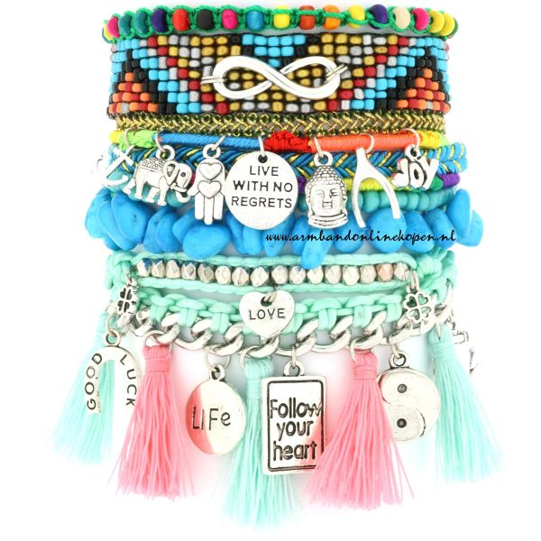 Ibiza Armband Live Life With No Regrets