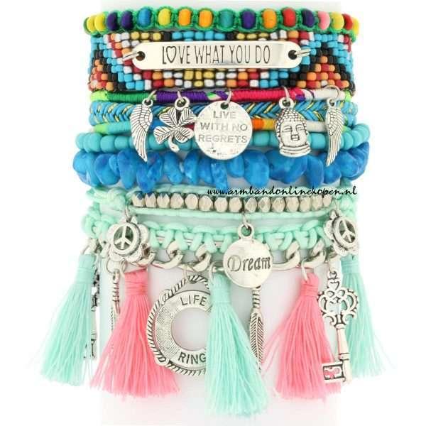 ibiza armbanden pastel tinten love what you do