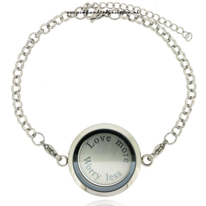 Armband met Munt Love More Worry Less