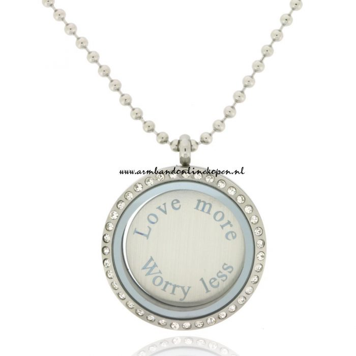 Munt Ketting Love More Worry Less
