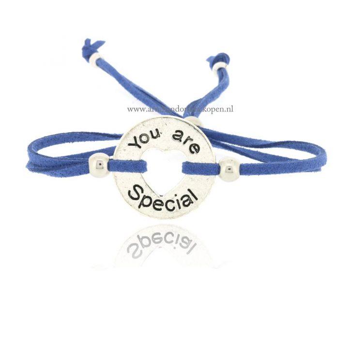 You Are Special Armbandje Blue Jeans