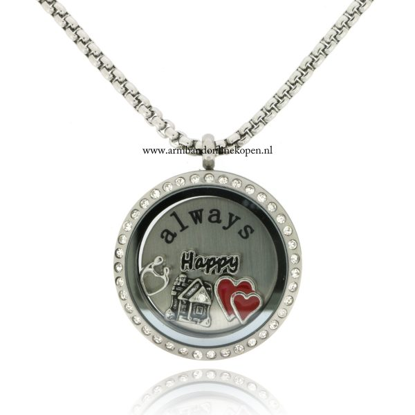 munt ketting happiness is homemade