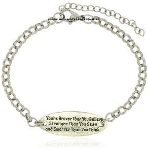 quote armband geloof altijd in jezelf
