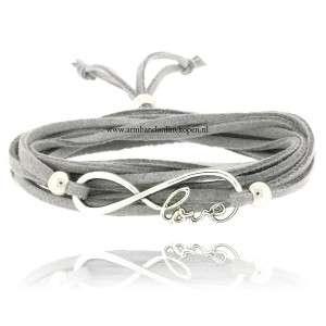 Armband Infinite Love Zilver Grijs