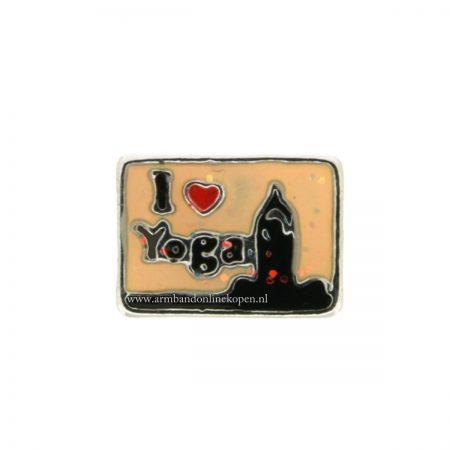 I love youga bedel munt hanger of armband