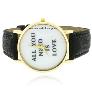 Quote Horloge All You Need is Love