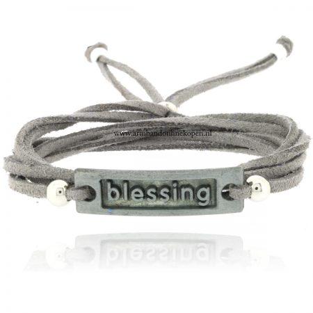 armband blessing zilver grijs 2015