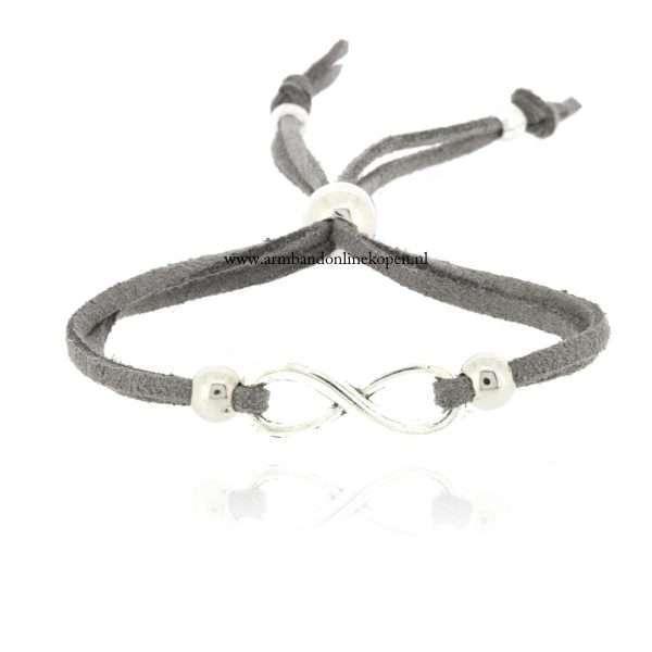 armband infinity zilver grijs 2015