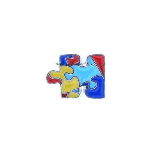 autisme symbool bedel munt hanger of armband