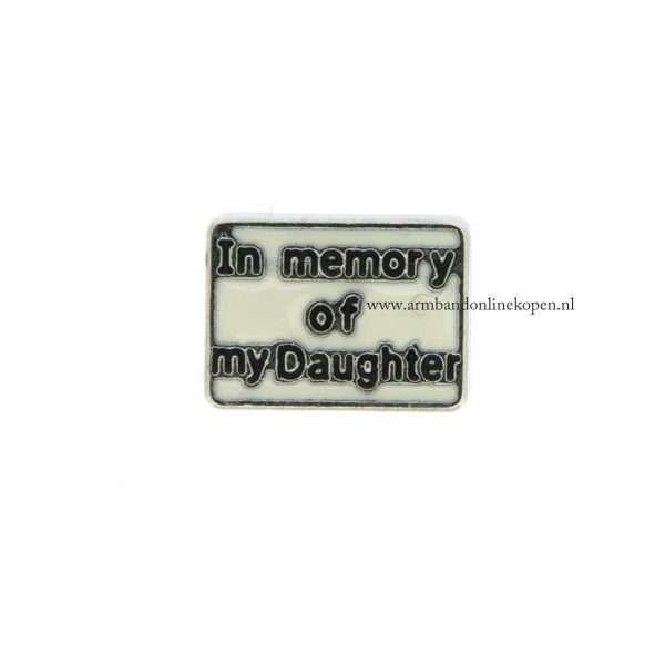 bedel munt hanger of armband in memory of my daughter