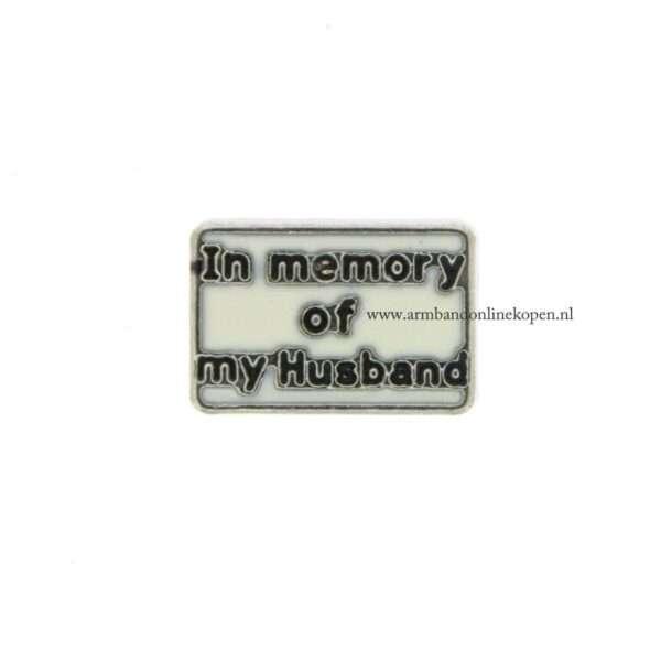 bedel munt hanger of armband in memory of my husband
