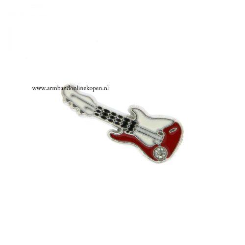 gitaar bedel voor munt hanger of armband
