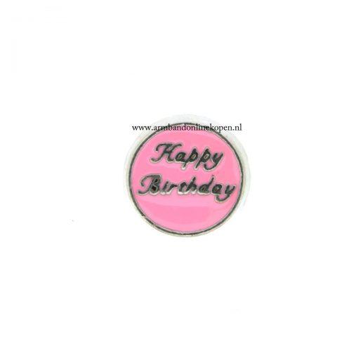 happy birthday bedel munt hanger of armband