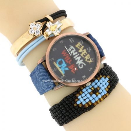 hippe Horloge Everything Will be OK armcandy