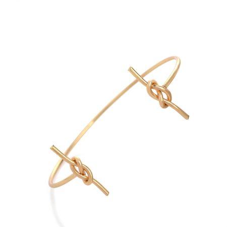 hippe armband knoop bangle goud