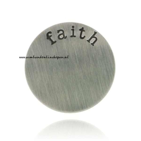 munt roestvrij staal faith