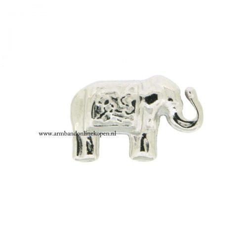 olifant bedel zilver voor munt hanger of armband