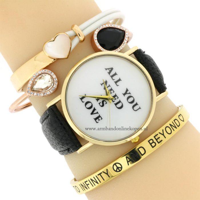 quote horloge bangle rvs cuff armband