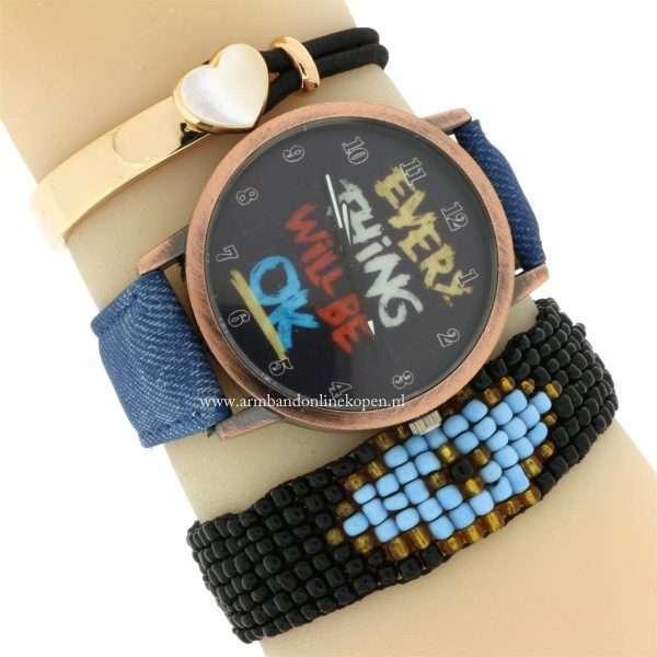 trendy Horloge Everything Will be OK