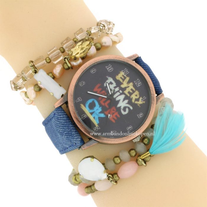 trendy Horloge Everything Will be OK armcandy