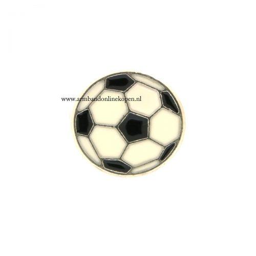 voetbal bedel voor munt hanger of armband