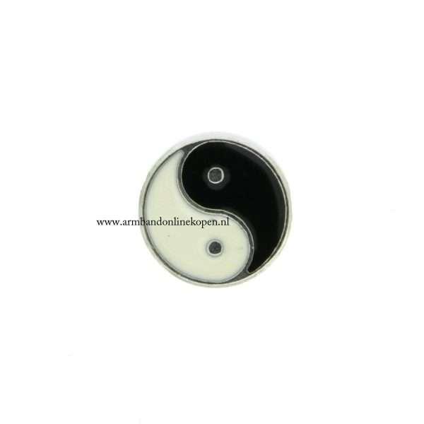 yin yang bedel munt hanger of armband