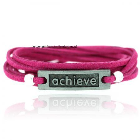 armband achieve zilver cyclaam