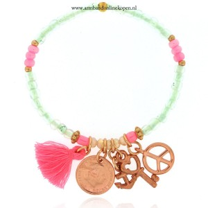 armband bedels rose goud