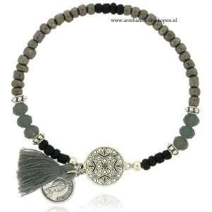 armband bohemian zilver barok figuurtje