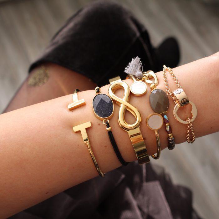 armband elastiek steen glimmering