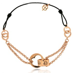 armband love ketting elastiek klaver