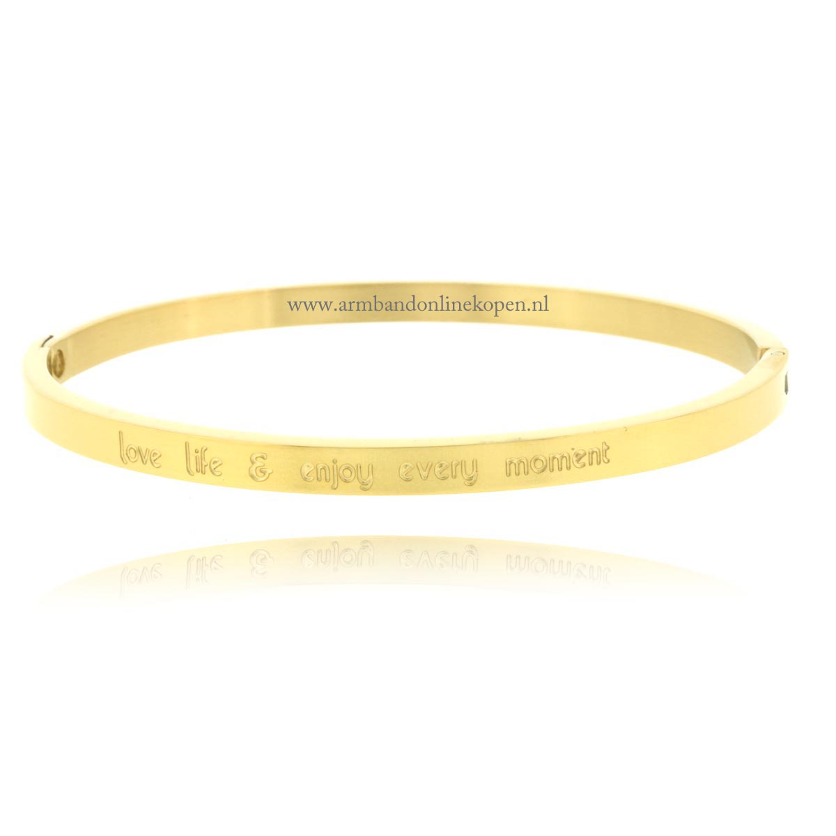 gouden quote armband love life