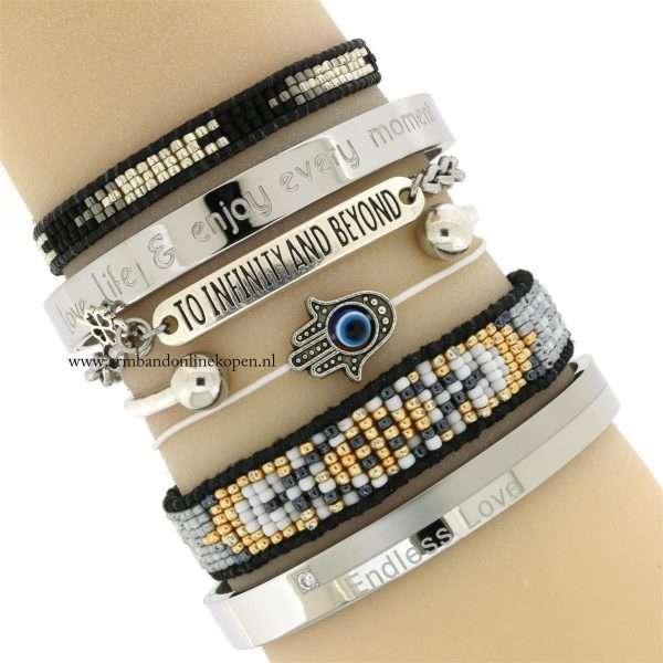 hamsa hand quote armband to infinity and beyond